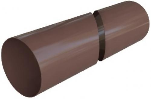 Труба водосточная с муфтой ПВХ 3 м, Элит (цвет коричневый)
