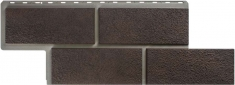 Фасадные панель Камень Неаполитанский (коричневый)