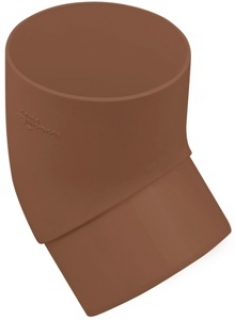 Колено трубы 45 градусов для водосточной системы Стандарт (цвет коричневый)