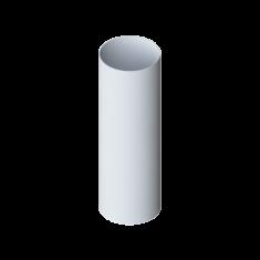 Труба водосточная с муфтой ПВХ, длина 3 м Элит (цвет белый)